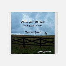 Call on Jesus 2 Throw Blanket