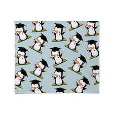 Graduation Penguin (3) Throw Blanket