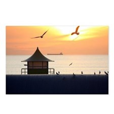 Ocean Sunset with Beach H Postcards (Package of 8)