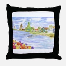 Cute Netherlands Throw Pillow