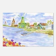 Tulips and Windmills Postcards (Package of 8)