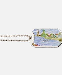 Tulips and Windmills Dog Tags