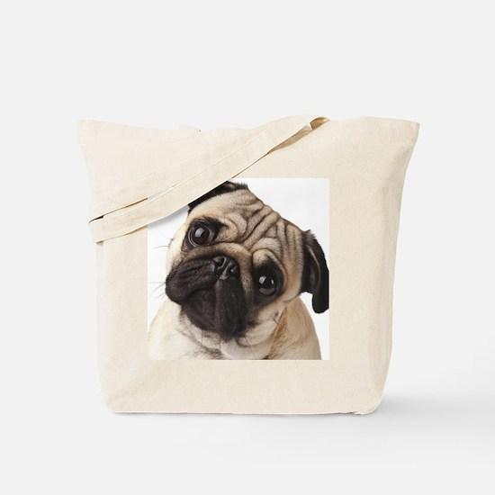 Curious Pug Tote Bag