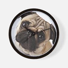 Curious Pug Wall Clock