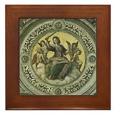 Justice by Raphael Framed Tile