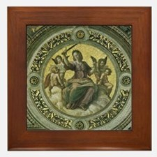 Justice by Raphael Framed Tile