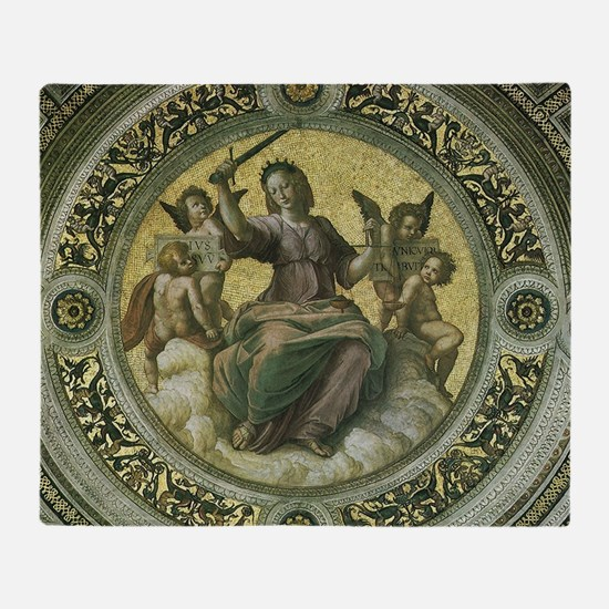 Justice by Raphael Throw Blanket