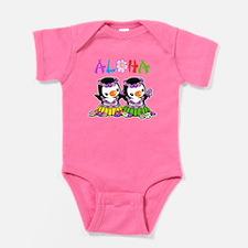 Aloha Penguins (1) Baby Bodysuit