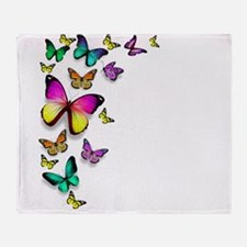 Colorful Butterfly Throw Blanket