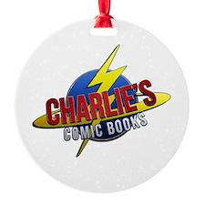 Charlie's Comic Books Ornament