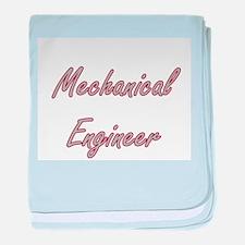 Mechanical Engineer Artistic Job Desi baby blanket