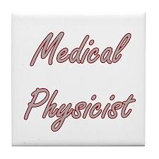 Medical Physicist Artistic Job Design Tile Coaster