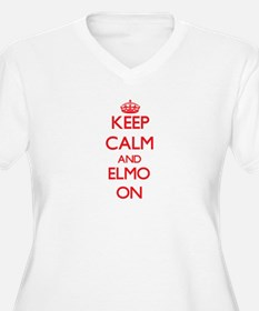 Keep Calm and Elmo ON Plus Size T-Shirt