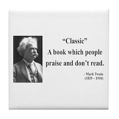 Mark Twain 25 Tile Coaster