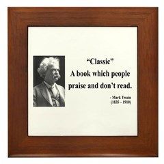Mark Twain 25 Framed Tile