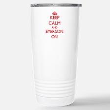 Keep Calm and Emerson O Stainless Steel Travel Mug