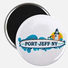 Port Jefferson - Long Island. Magnet Magnets