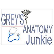Grey's Anatomy Junkie Poster