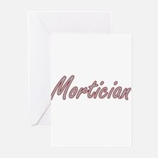 Mortician Artistic Job Design Greeting Cards