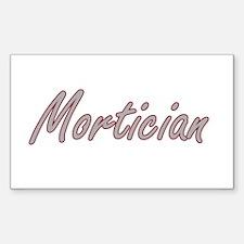 Mortician Artistic Job Design Decal