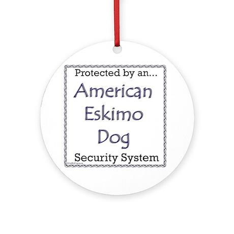 Eskie Security Ornament (Round)