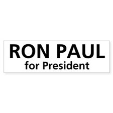 Ron Paul for President Bumper Bumper Sticker