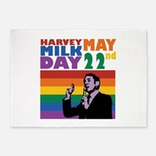 Harvey May Milk Day 22nd 5'x7'Area Rug