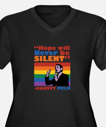 Hope Will Never Be Silent Plus Size T-Shirt