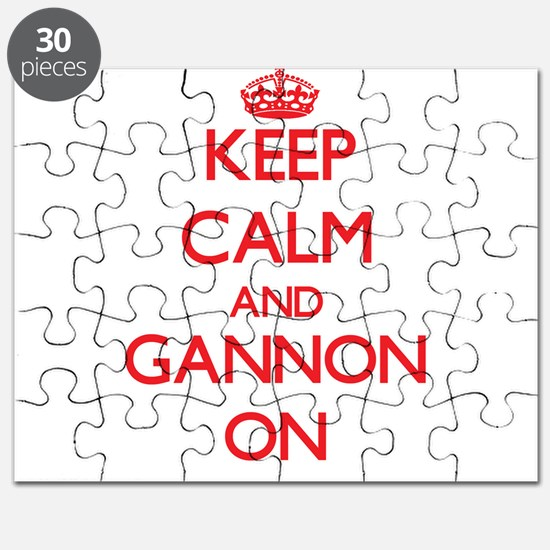 Keep Calm and Gannon ON Puzzle