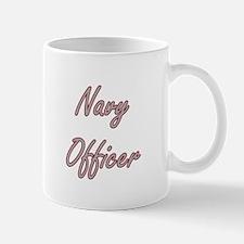 Navy Officer Artistic Job Design Mugs