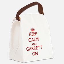 Keep Calm and Garrett ON Canvas Lunch Bag