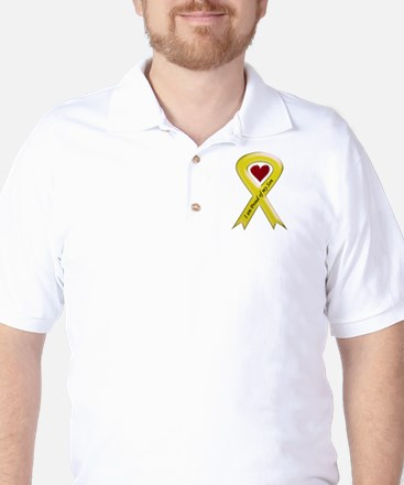I Am Proud Of My Son Yellow Ribbon Golf Shirt