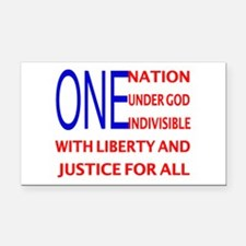 One Nation Flag Rectangle Car Magnet