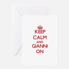 Keep Calm and Gianni ON Greeting Cards