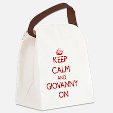 Keep Calm and Giovanny ON Canvas Lunch Bag