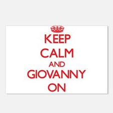 Keep Calm and Giovanny ON Postcards (Package of 8)