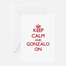 Keep Calm and Gonzalo ON Greeting Cards