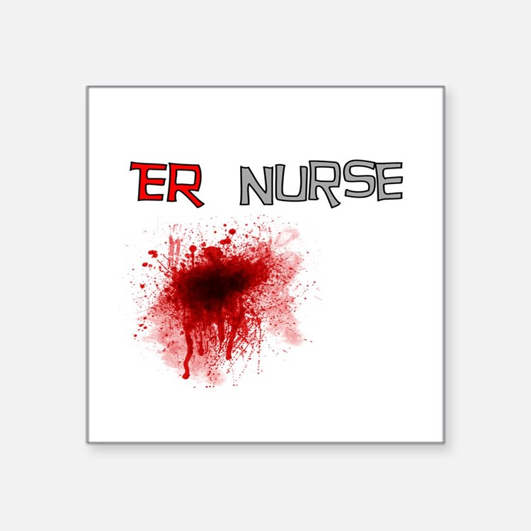 """Cute Er nurse Square Sticker 3"""" x 3"""""""