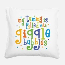 Giggle Bubbles Square Canvas Pillow