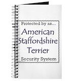 American staffordshire terriers journal Journals & Spiral Notebooks