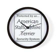 Am Staff Security Wall Clock