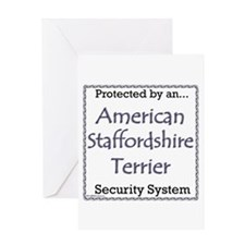 Am Staff Security Greeting Card