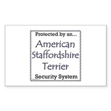 Am Staff Security Rectangle Decal