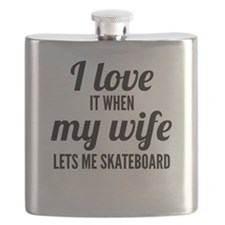 When My Wife Lets Me Skateboard Flask