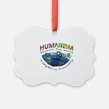 Humanism vs Myth Ornament