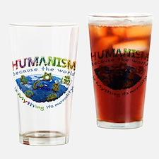 Humanism vs Myth Drinking Glass