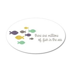 Millions of fish in the sea Wall Decal