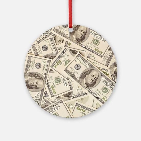 Dollar Bills Ornament (Round)