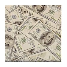 Dollar Bills Tile Coaster