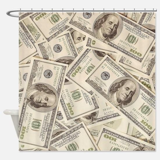 Dollar Bills Shower Curtain